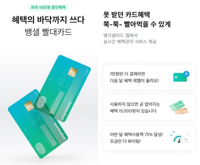 뱅크샐러드, 롯데카드와 손잡고 PLCC '빨대카드' 론칭